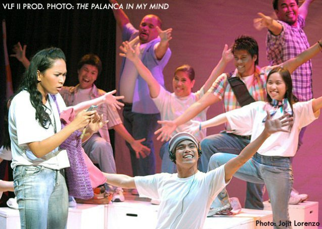 """A scene from Job A. Pagsibigan's """"The Palanca in My Mind"""", featuring Wenah Nagales and the TP Actors Company, directed by Roobak Valle, and staged in the second Virgin Labfest on July 2006."""